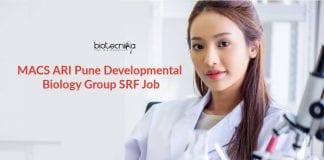 MACS ARI Pune Job