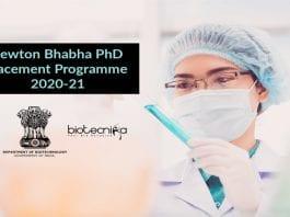 Newton-Bhabha PhD Placement Programme