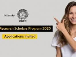 CDFD Research Scholars Program