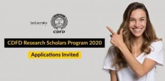 CDFD Research Scholars Program