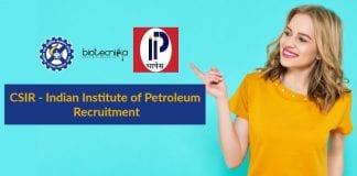 CSIR-IIP Recruitment