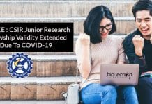 CSIR JRF Validity Extended