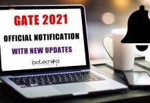 GATE 2021 Notification