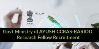 Govt CCRAS-RARIDD Research Fellow