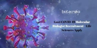Govt COVID-19 Molecular Biologist