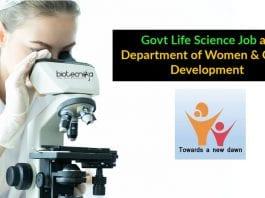 Govt Life Science Job