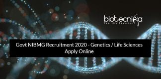 Govt NIBMG Recruitment 2020