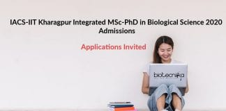 IACS Integrated MSc-PhD