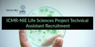 ICMR-NIE Life Sciences Project