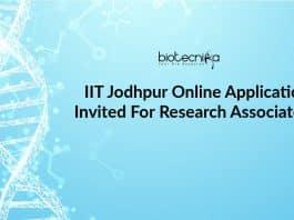 IIT Jodhpur Online Applications Invited For Research Associate Job