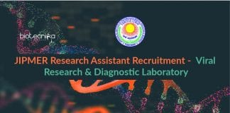 JIPMER Research Assistant Recruitment