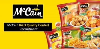 McCain R&D Quality Control Recruitment