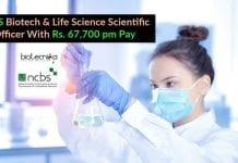 NCBS Biotech Scientific Officer