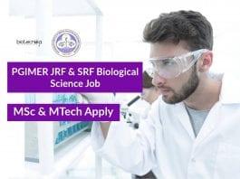 PGIMER JRF & SRF