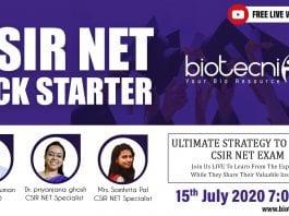 CSIR NET Kickstarter Webinar