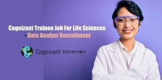 Cognizant Trainee Job