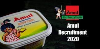 Amul Recruitment 2020