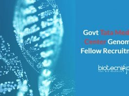 Govt TTCRC Genomics Jobs