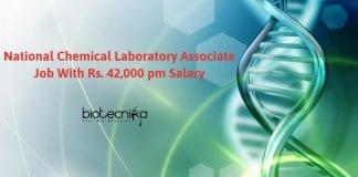 National Chemical Laboratory Associate