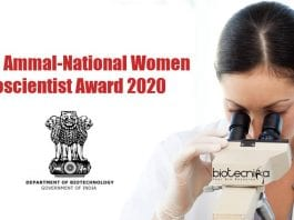 National Women Bioscientist Award