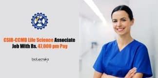 CSIR-CCMB Life Science Associate