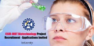 CSIR-IHBT Biotechnology Project Recruitment