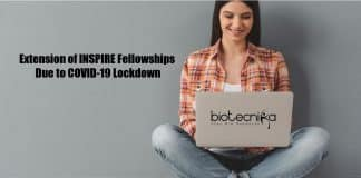 Extension of INSPIRE Fellowship