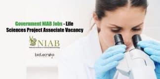 Government NIAB Jobs