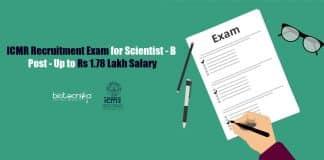 ICMR Recruitment Exam