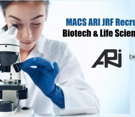 MACS ARI JRF Recruitment