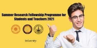 Summer Research Fellowship Programme