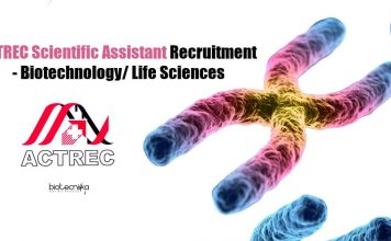 ACTREC Scientific Assistant Recruitment