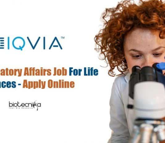 IQVIA Regulatory Affairs Job