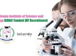 Sathyabama University JRF Jobs