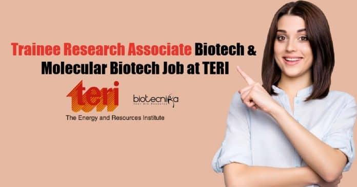 Trainee Research Associate Biotech