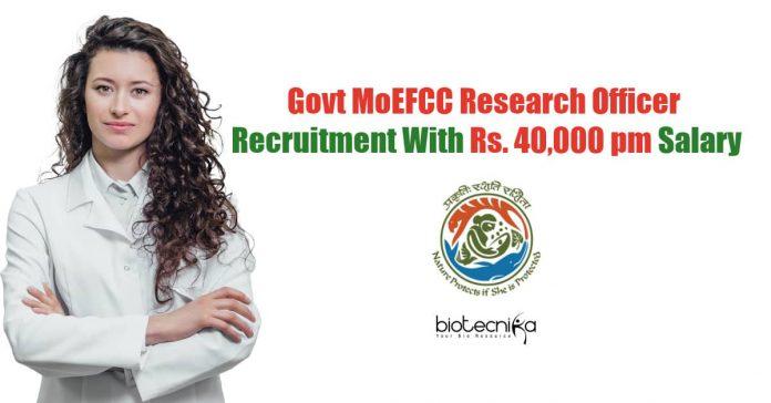 MoEFCC Jobs 2020