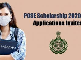 POSE Scholarship 2020-21