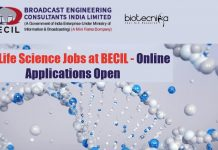BECIL Jobs For Lifescience