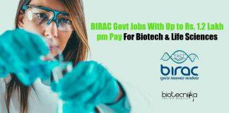 BIRAC Govt Jobs