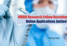 NIRRH Research Fellow Recruitment