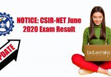CSIR-NET 2020 Result Date
