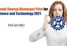 CSIR-Shanti Swarup Bhatnagar Prize