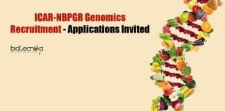 ICAR-NBPGR Genomics Recruitment