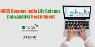 NCBS Data Analyst Job