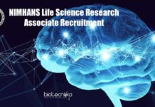 NIMHANS Vacancy For Lifesciences