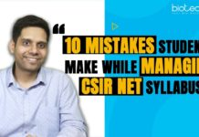 CSIR NET Syllabus Mistakes