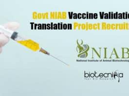 NIAB Project Vacancy