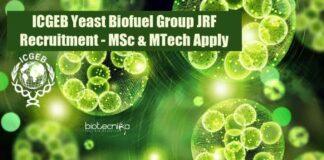 ICGEB JRF Vacancy