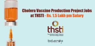 THSTI Lab Vacancies