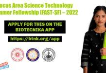 Focus Area Summer Fellowship